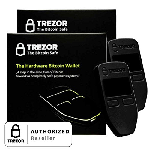 Trezor Hardware Wallet Black - 2 Combo Pack
