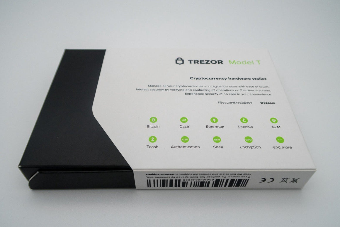 Trezor Bitcoin Hardware Wallet Model T (2nd Generation)