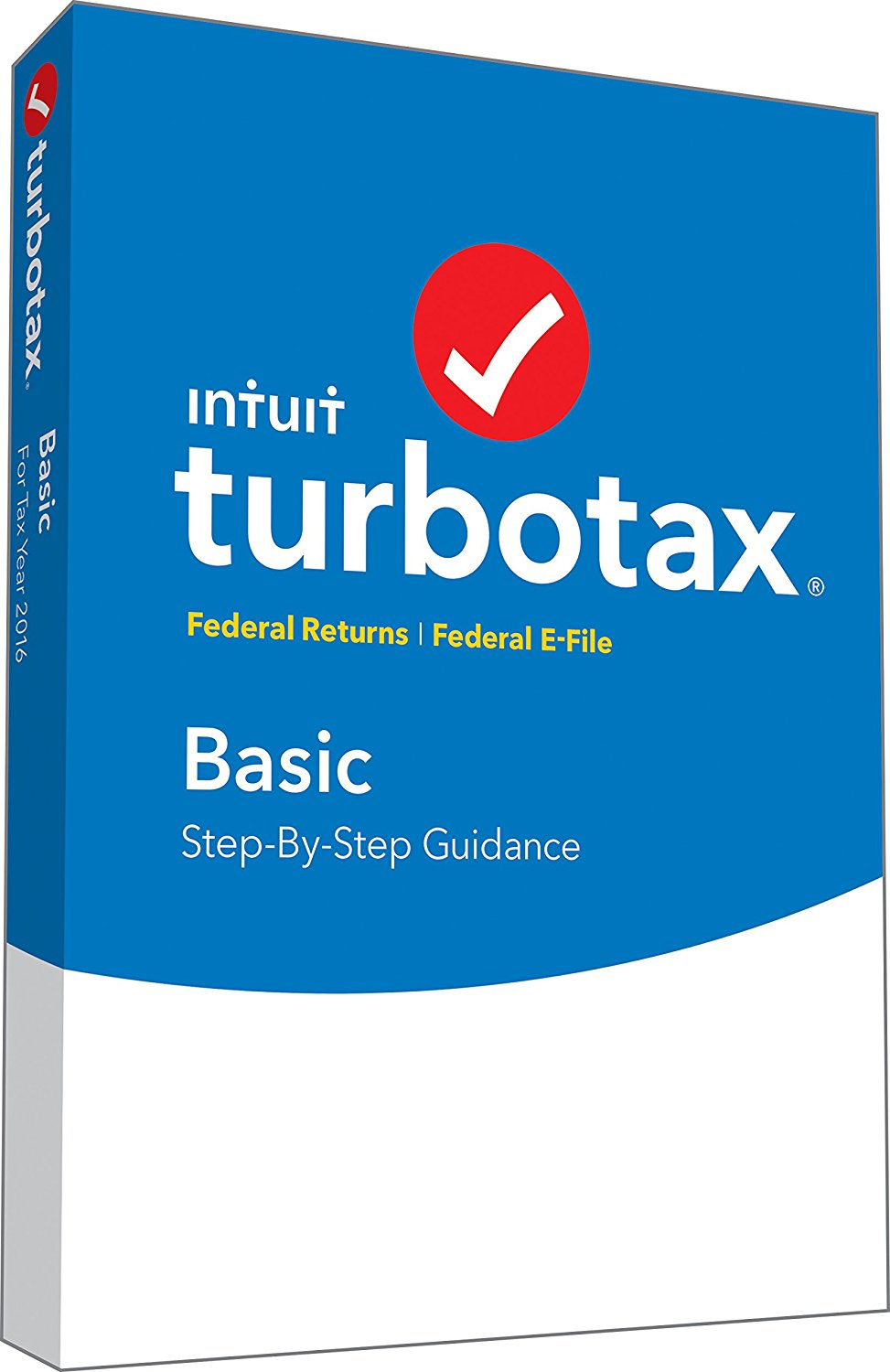 TurboTax Basic 2016 Tax Software Federal + Fed Efile PC