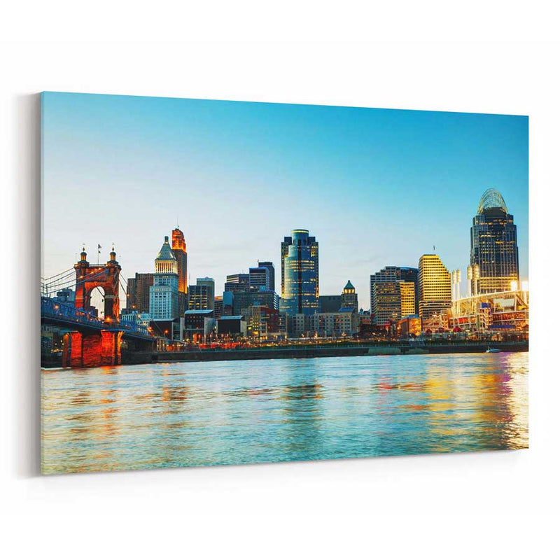 Cincinnati Skyline Canvas Wall Decor