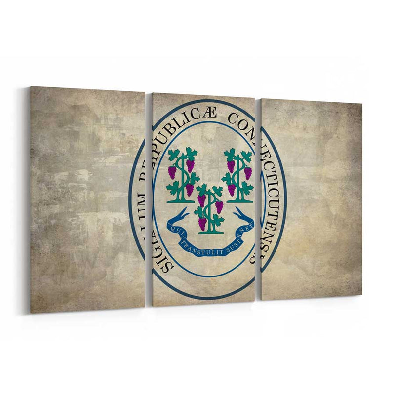 Connecticut  State Seal Canvas Print