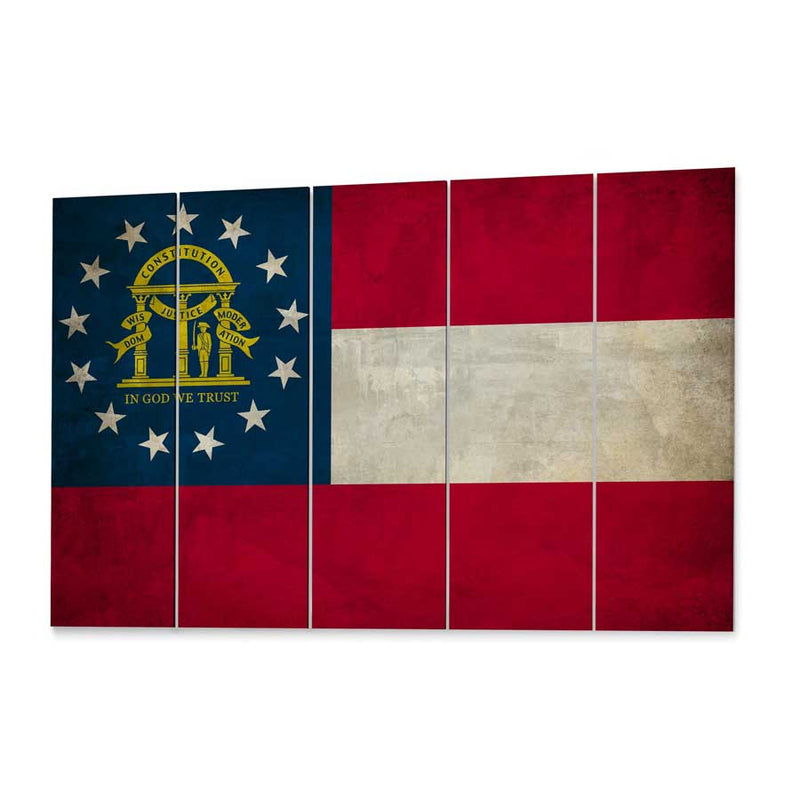 Georgia  State Flag Canvas Print