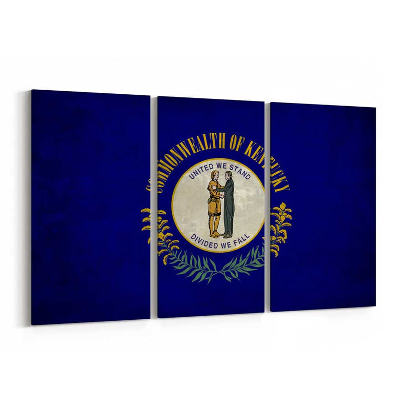 Kentucky  State Flag Canvas Print