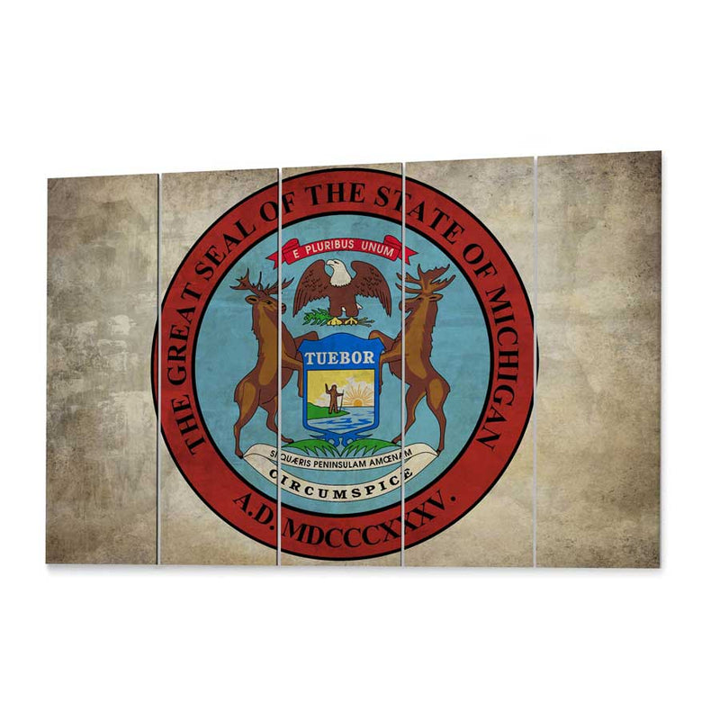 Michigan  State Seal Canvas Print