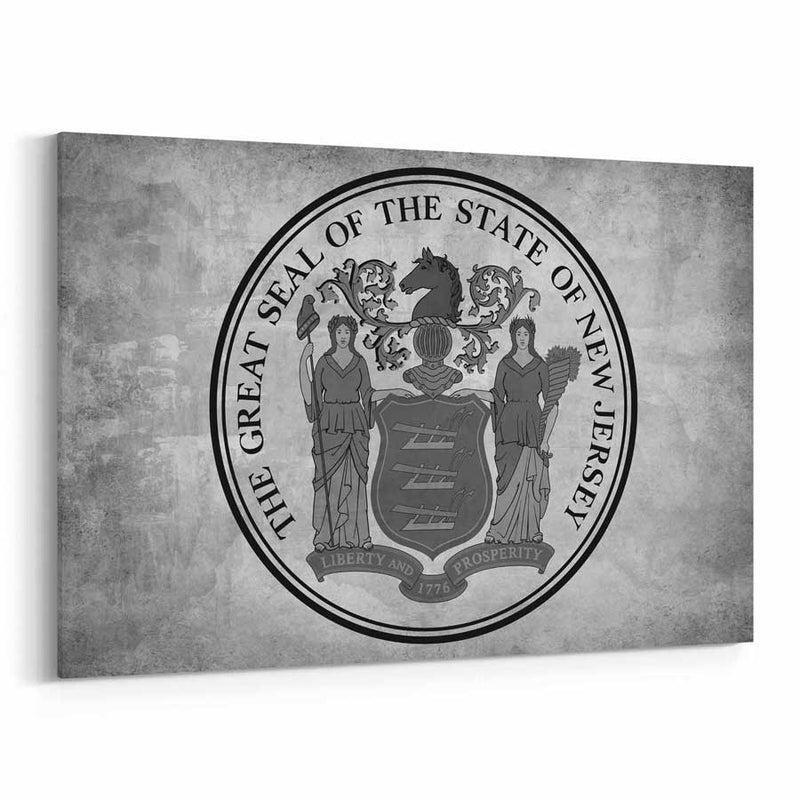 New Jersey  State Seal Canvas Print
