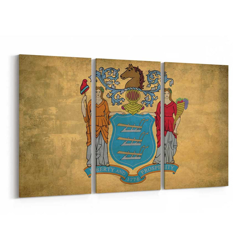 New Jersey  State Flag Canvas Print