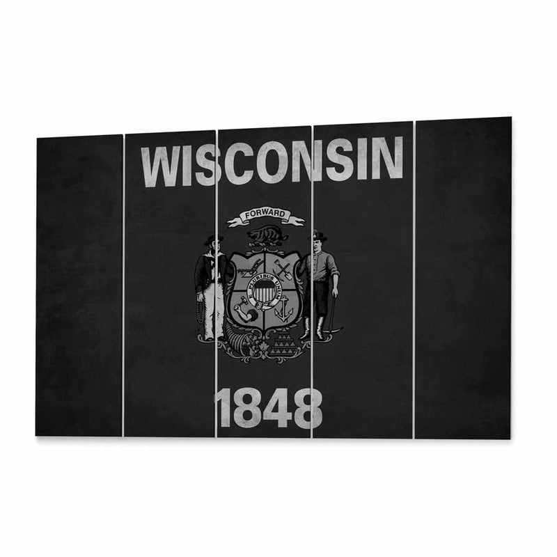 Wisconsin  State Flag Canvas Print