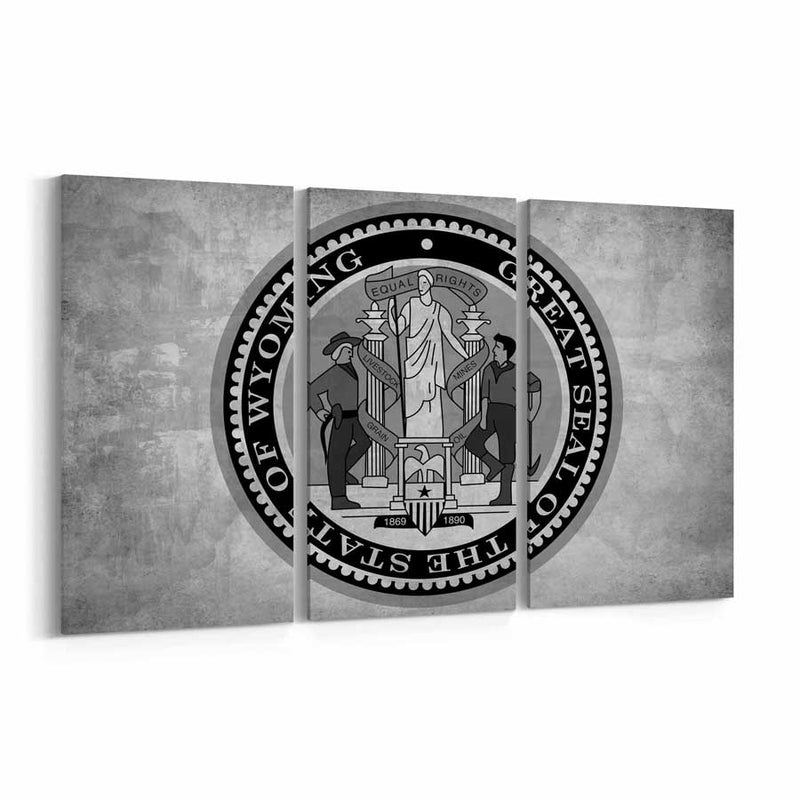 Wyoming  State Seal Canvas Print