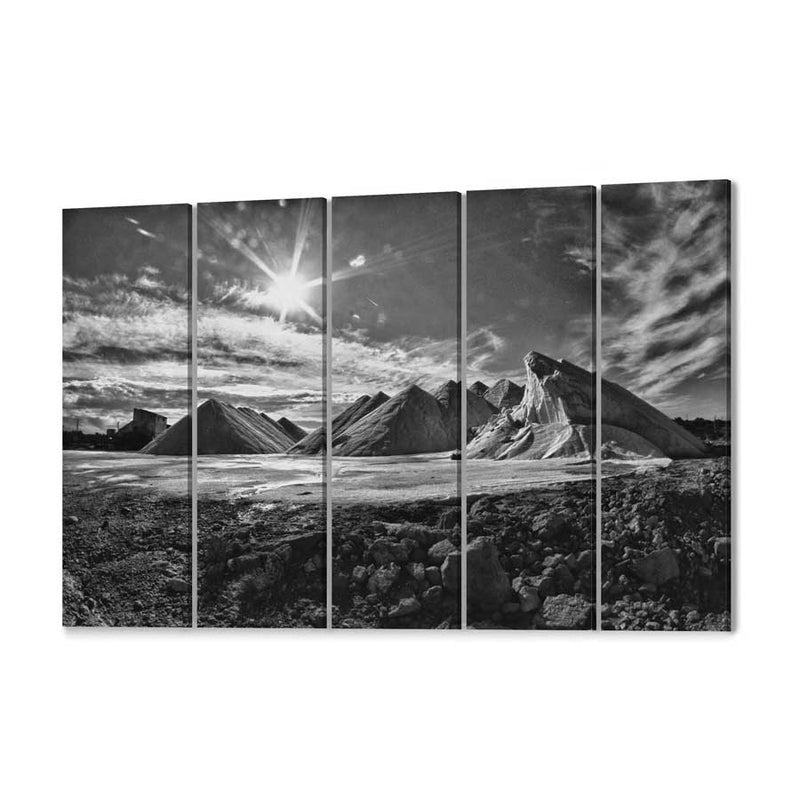 Salt Mountains Canvas Print