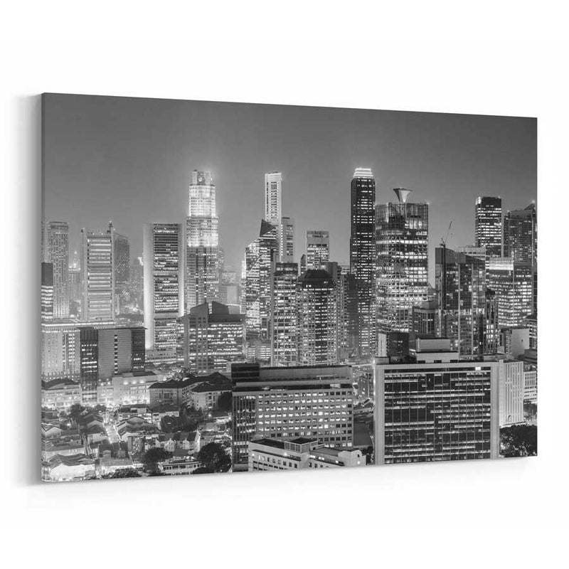 Singapore Skyline Canvas Wall Decor