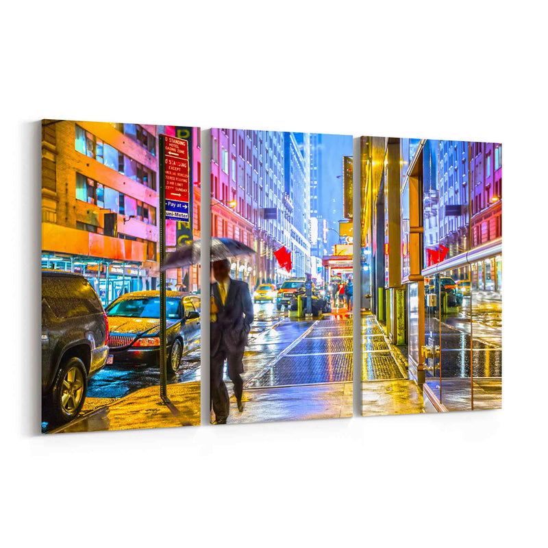 Colorful Wet New York Canvas Print