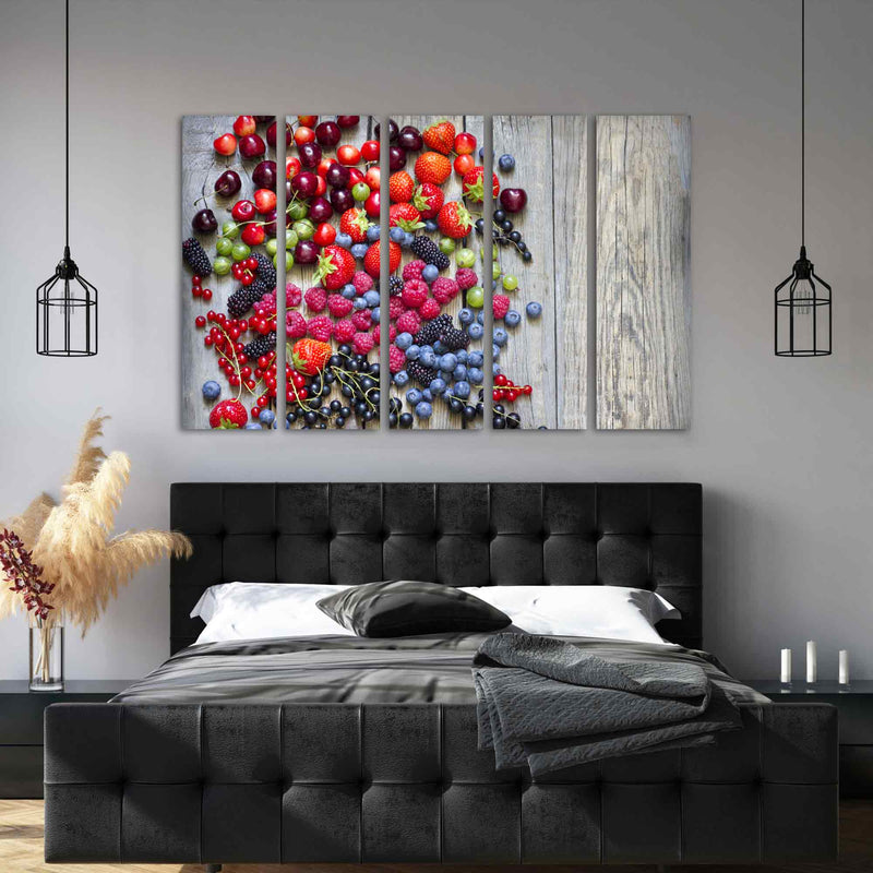 Summer Wild Berry Fruits Canvas Print