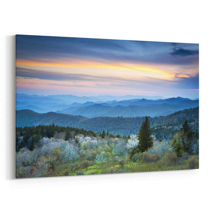 Blue Ridge Parkway Spring Smoky Mountains Canvas Print