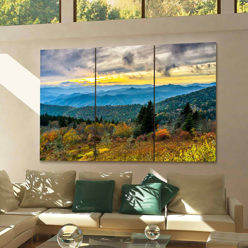 Cowee Mountains, Blue Ridge Parkway Canvas Print