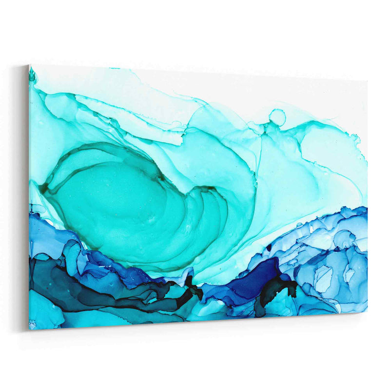 Abstract Art Alcohol Ink Blue Canvas Print