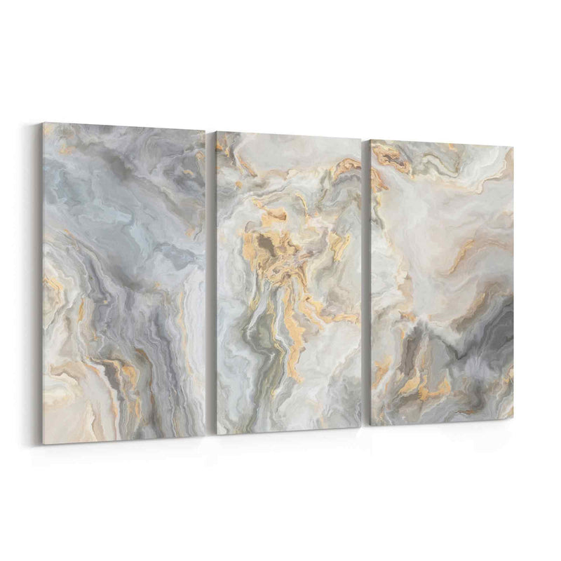 White Marble Abstract Art Canvas Print