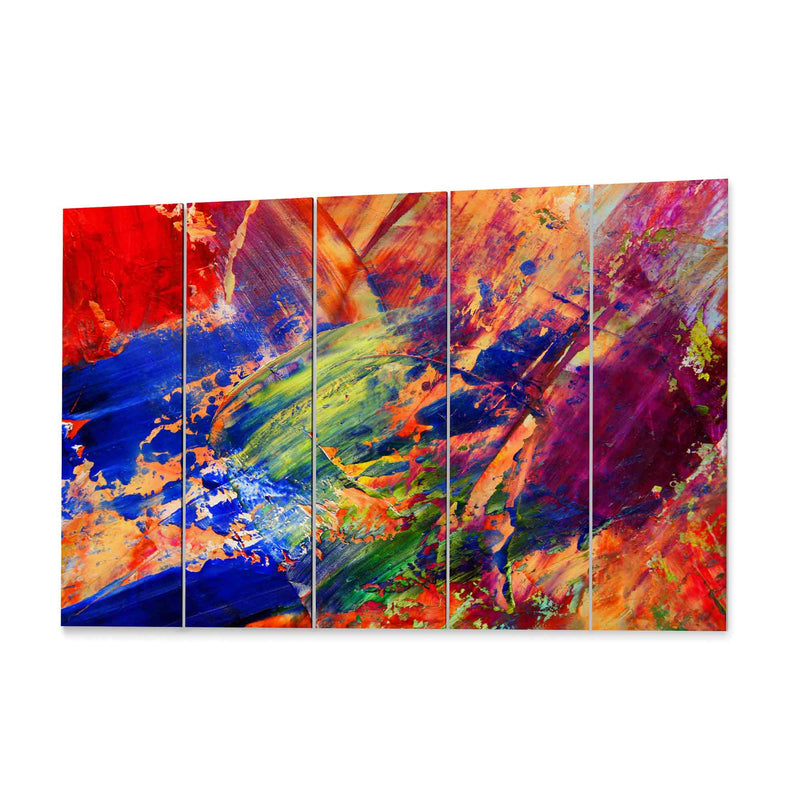 Multicolor Paint Abstract Art  Canvas Print