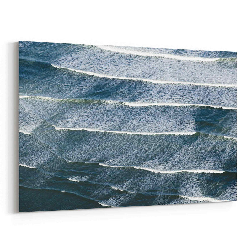 Aerial Viewbreaking Ocean Waves Canvas Print