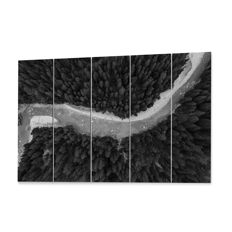 River Aerial View Canvas Print