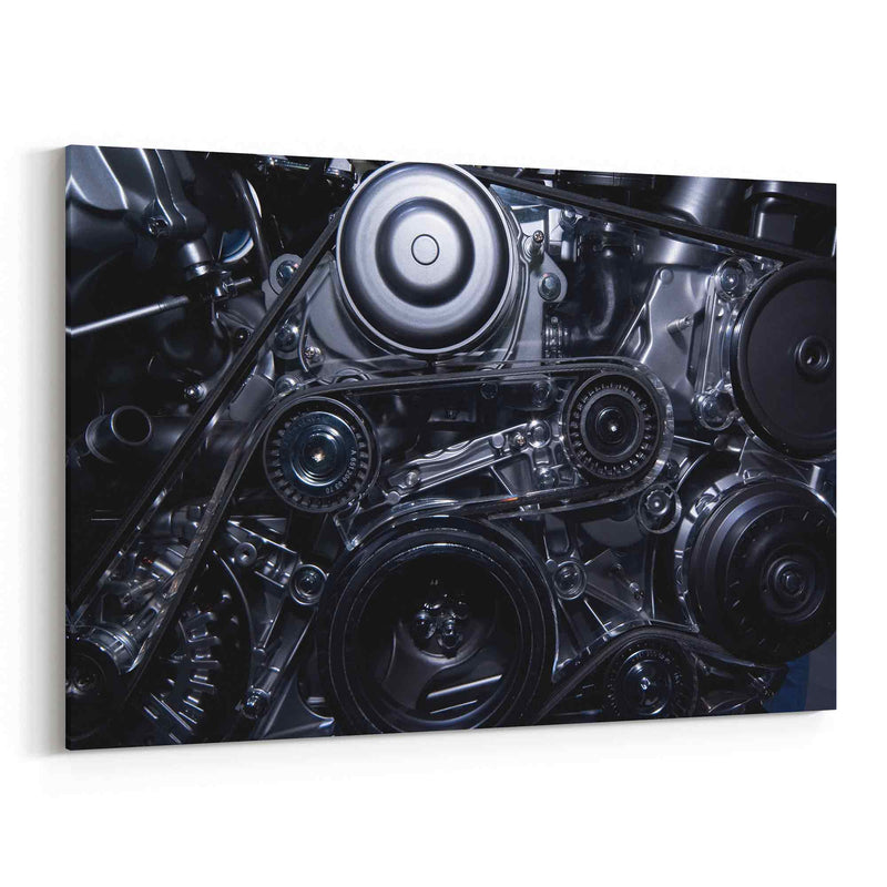 Engine Close-Up Canvas Print