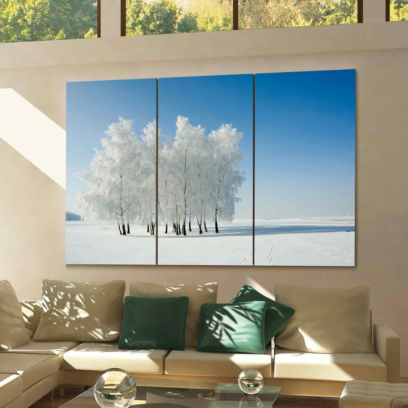 Winter Landscape And Trees Canvas Print