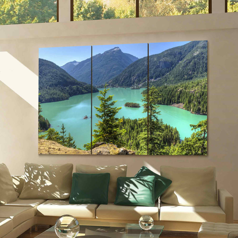 Diablo Lake Canvas Wall Art