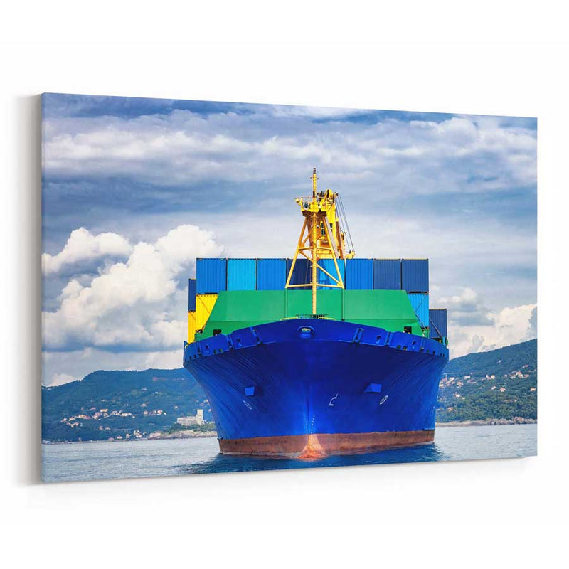 Cargo Ship Canvas Wall Art