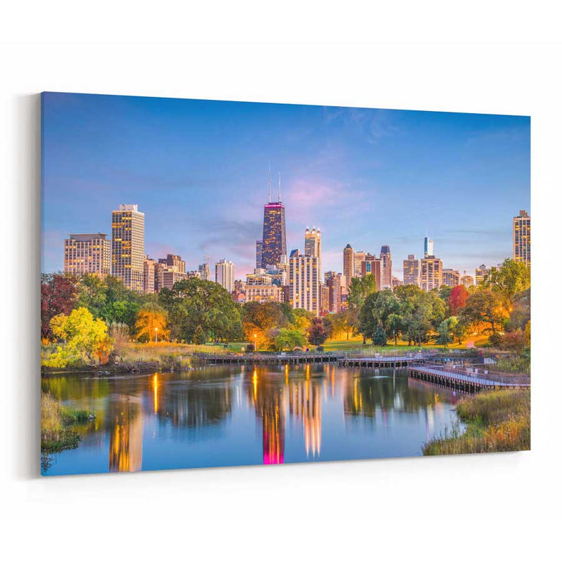 Lincoln Park Skyline Canvas Print