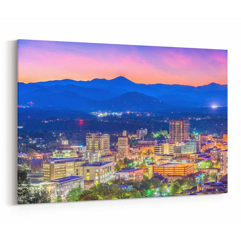 Asheville Skyline Canvas Print