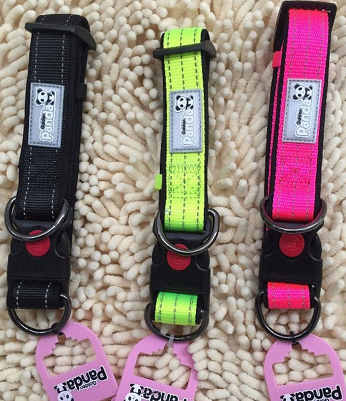 Safe Reflective Adjustable Dog Collars