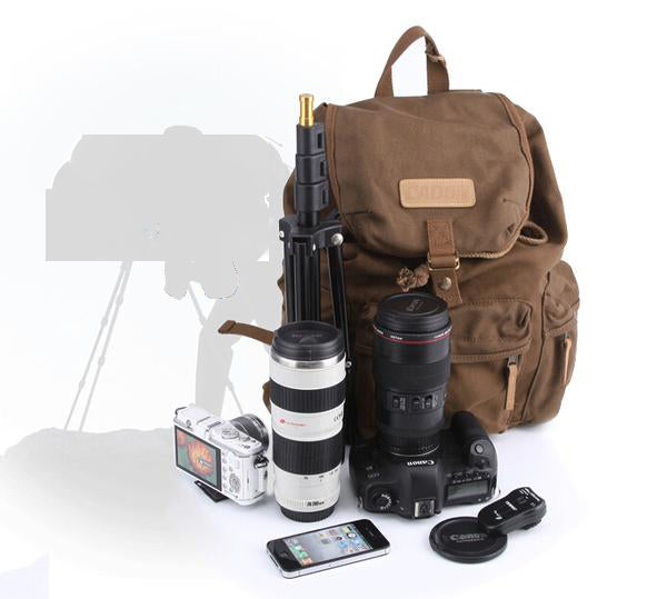 Camera waterproof National Geographic, double shoulder backpack