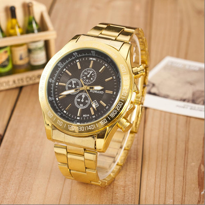 Men's Classic Golden Watch