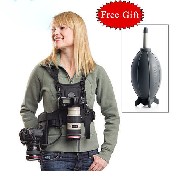 Photographer Vest with Dual Side Holster - Multi Camera Carrier