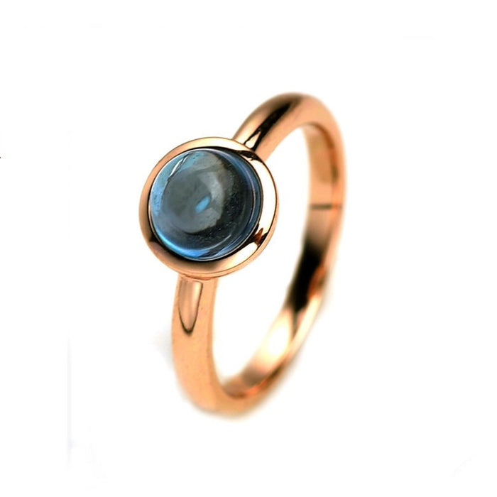 Natural Blue Topaz Ring Silver