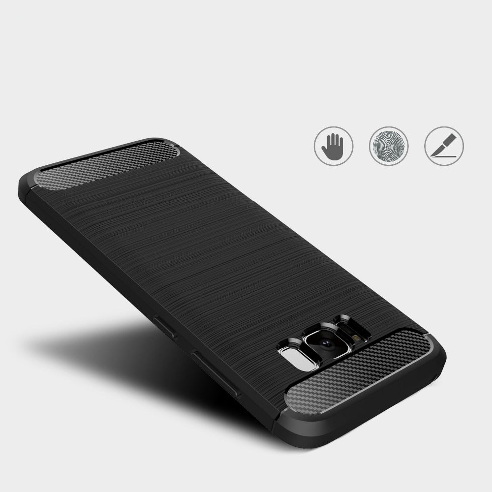 Quality Silicone case for Samsung S8 and S8 plus. Carbon Fiber