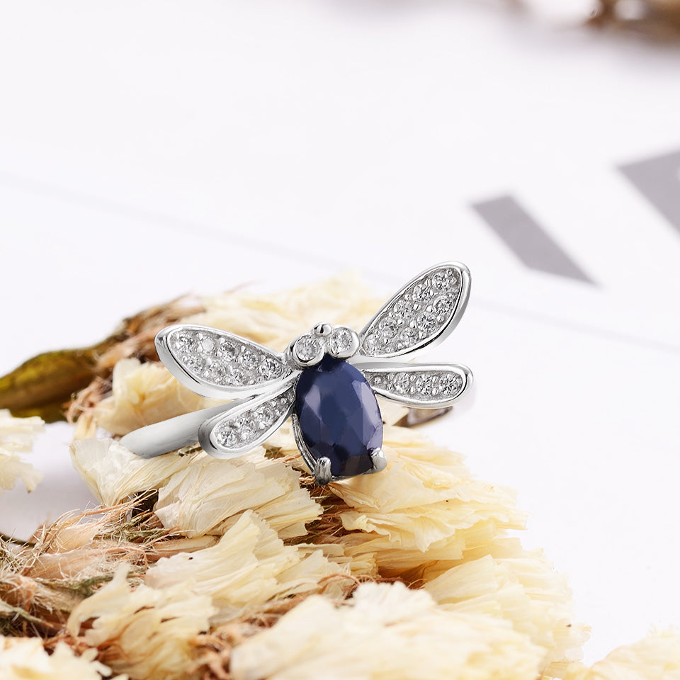 Silver Ring with Natural Sapphire