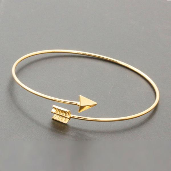 Arrow Shape Open Bangle, 2 colors