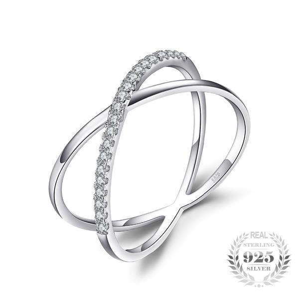 Sterling  Silver Cubic Zirconia Cocktail Ring