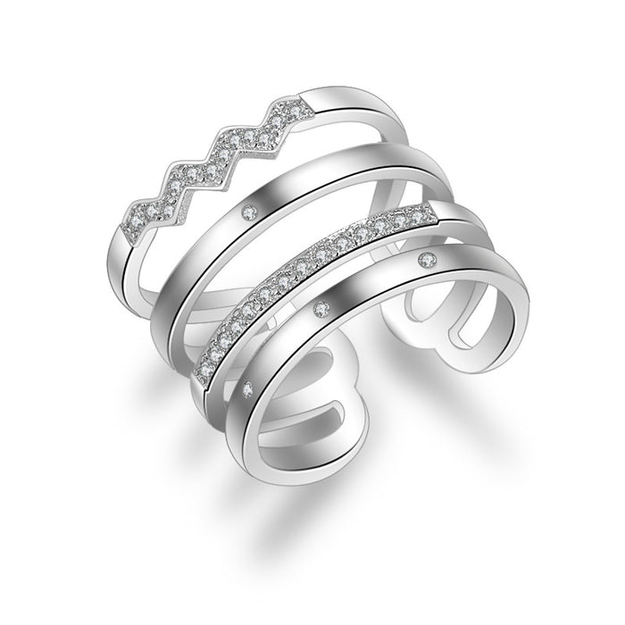 Sterling Silver Cocktail  Ring. 2 Colors