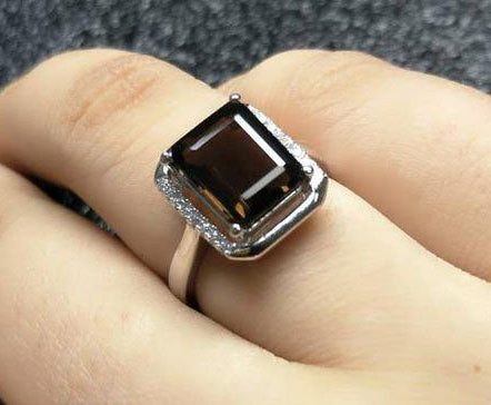 Smoky Quartz Sterling Silver Ring