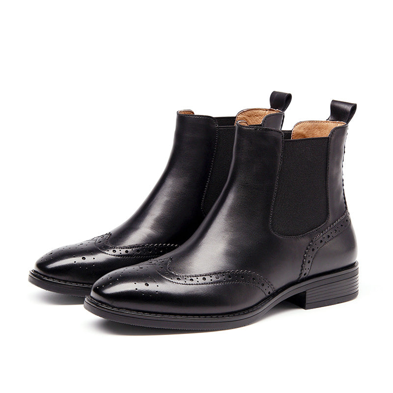Handmade Top Quality Leather Chelsea  Ankle  Boots