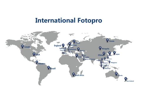 The distribution of fotopro throughout the world