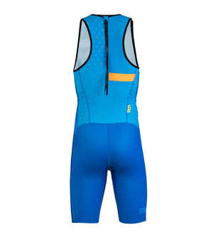 MAN TRI SUIT WITH REAR ZIP / 15548