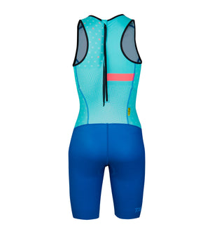 WOMAN TRI SUIT WITH REAR ZIP / 15548