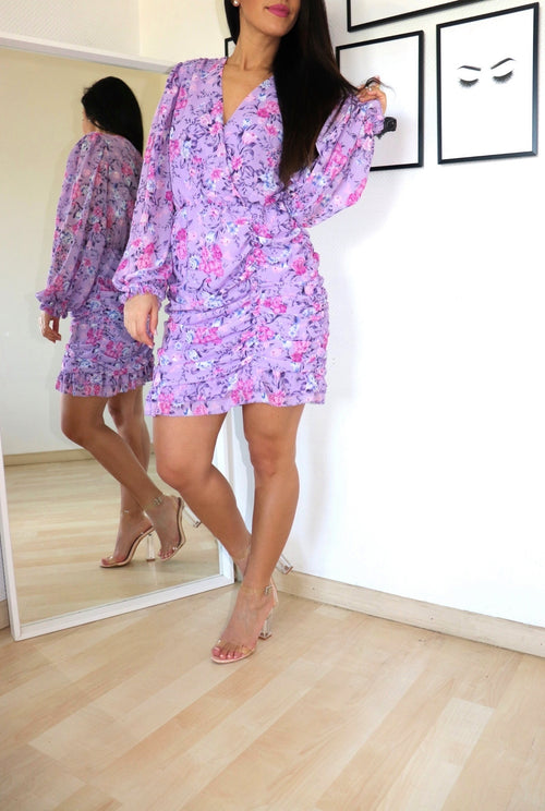 robe lilas fleurie