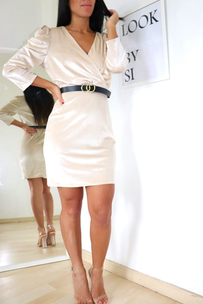 Robe velours champagne