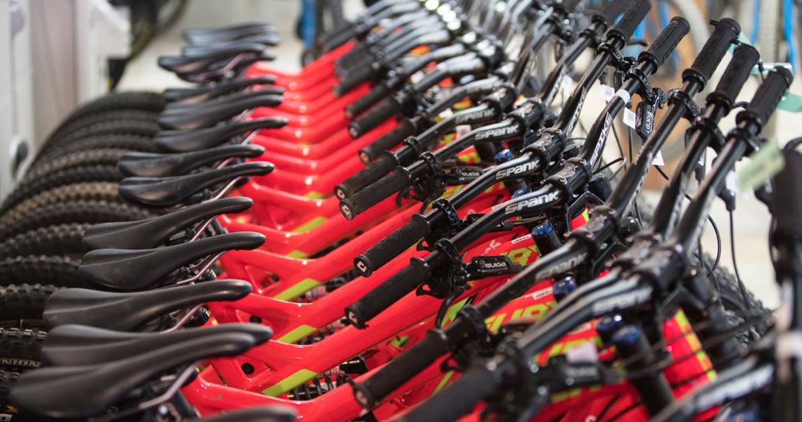 BOMBPROOF RENTAL FLEET BARS, WHEELS & PEDALS