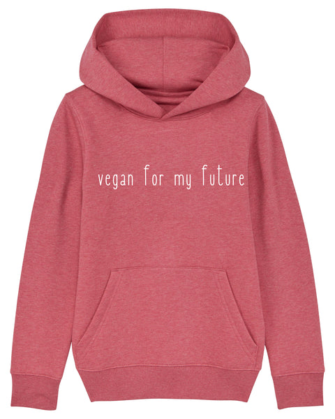 "Kids-Hoodie ""Vegan for my future"""