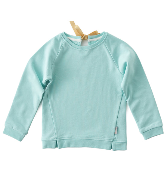 Pullover mit Band - tropical blue