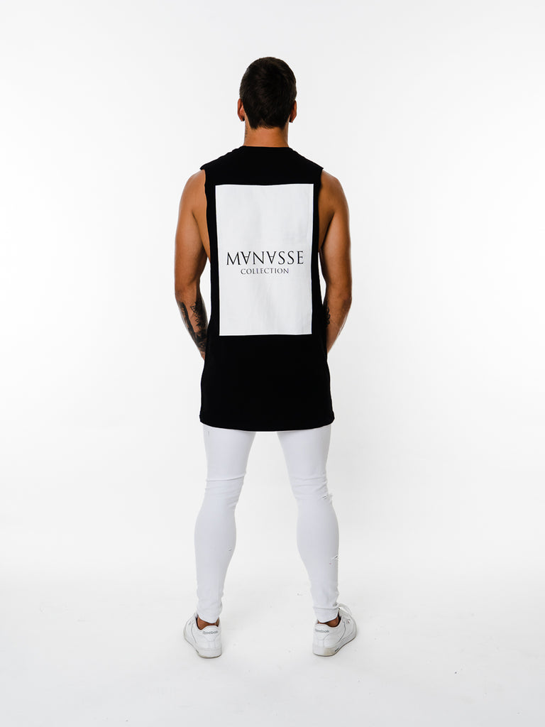 Mens - Manasse Basix Collection Cut Off Tee (Black)